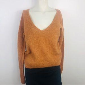 Free People Crop Alpaca Wool & Nylon Sweater